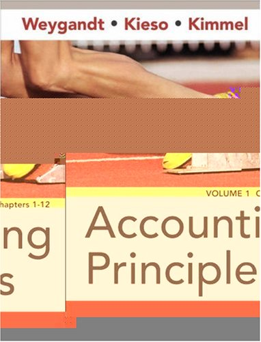 Accounting Principles, Chapters 1-12 (Volume 1)
