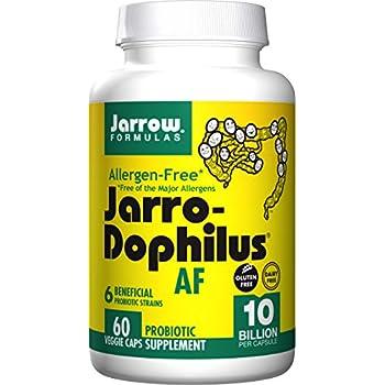 Jarro-Dophilus  Allergen-Free, 10 Billion Per Cap, 60 Count (Cool Ship, Pack of 3)