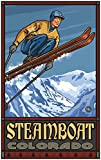 Steamboat Colorado Ski Jumper Travel Art Print Poster by Paul A. Lanquist (24'' x 36'')
