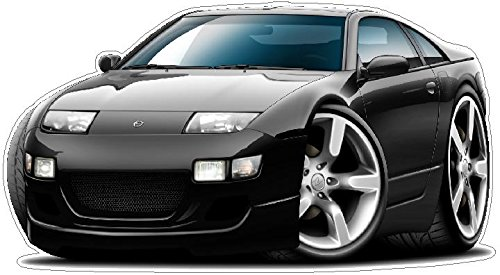 1989-2000 Nissan 300ZX WALL DECAL 2ft long Sport Classic Vintage Graphic Sticker Photo Man Cave Garage Boys Bedroom ()