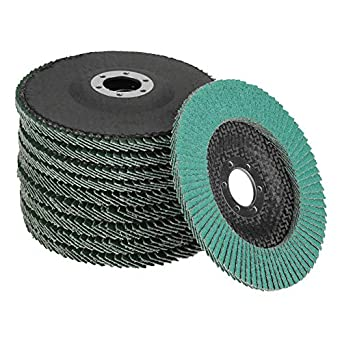Pack 10 Flap Sanding Disc Wheel Grit 40 Abrasive Polishing Grinding Wheel