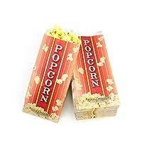 100 bolsas para servir palomitas de maíz - Estilo de bolsa de papel con fondo de pellizco