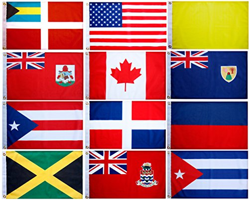 Blue Marble Marine Set of 12 Courtesy and Quarantine Flags for US, Canada, Bermuda, Bahamas and Greater Antilles. 12 X 18 inches, UV fade-resistant. by Blue Marble Marine (Image #5)
