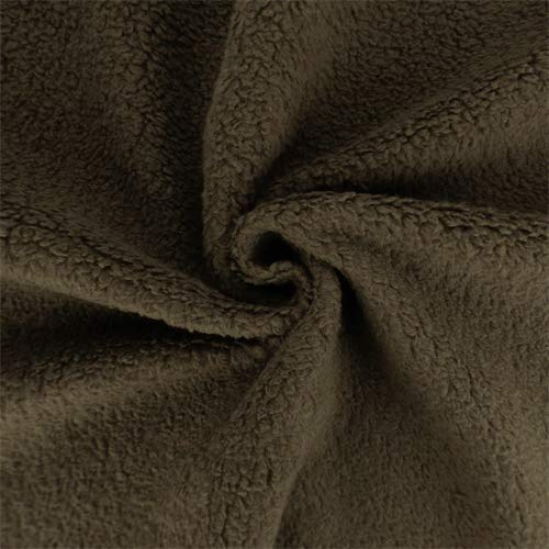 Brown Single-Sided Berber Fleece, Fabric by The Yard