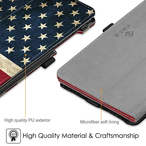Fintie Folio Case for Samsung Galaxy Tab A 8.0 2019 Without S Pen Model (SM-T290 Wi-Fi, SM-T295 LTE), [Corner Protection] Slim Fit Premium Vegan Leather Stand Cover, US Flag