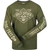 Harley-Davidson Long-Sleeve Tee - Diamond H-D | USAG Wiesbaden LG