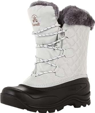Kamik Women's Mount Snow Snow Boot,Light Grey,6 M US