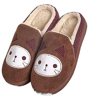 kids cat fleece cute slipper house shoes bedroom slippers slippers