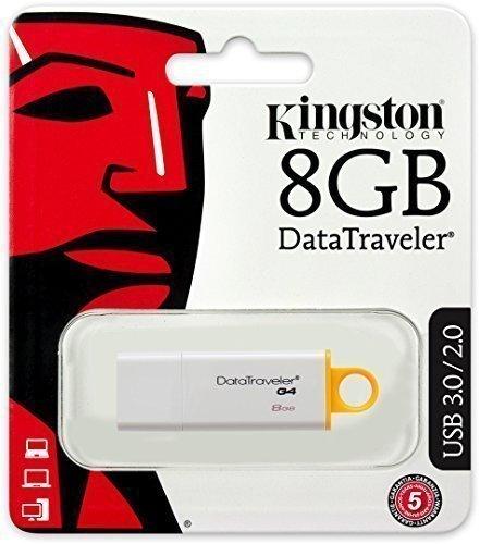 - Kingston 8GB Datatraveler USB3.0/2.0 G4