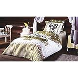 Diva Hello Kitty Bedding Set, 100% Cotton Quilt/Duvet Cover Set, Single/Twin Size Girls Bedding Set, Comforter Included (4 PCS)