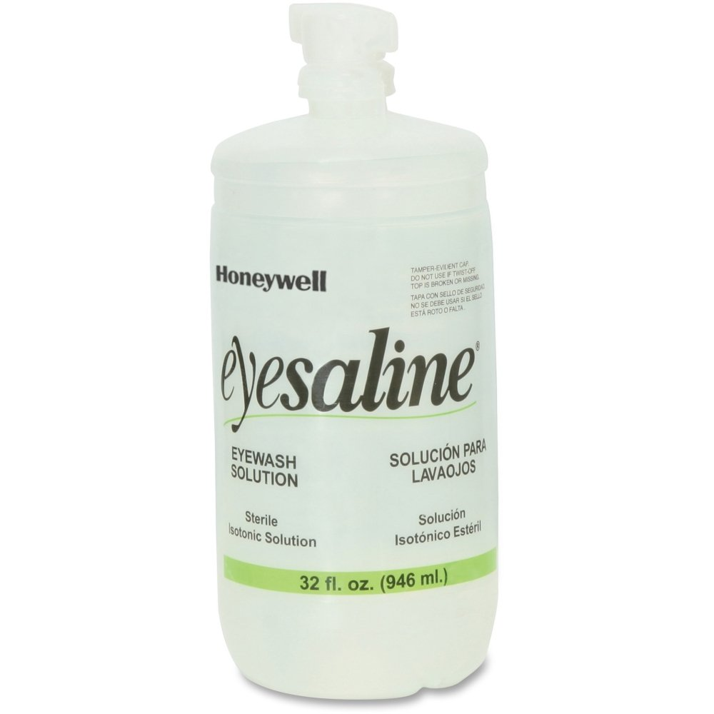 Fendall Personal Eyewash Saline Solution, 32 oz, Clear Honeywell International Inc FND320004550