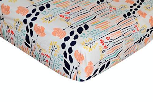 (Summer Grove Floral Fitted Crib Sheet - Fits Standard Crib Mattresses and Daybeds)