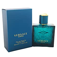 Versace Eros for men. Versace Eros for men. Lauched in 2012, this Aromatic Fragrance is captivating, strong and warm. Notes of Mint - Green Apple, Italian Lemon Heart, Tonka, Venezuelan Ambroxan, Geranium, Vetiver - Oakmoss and Atlas. Great f...