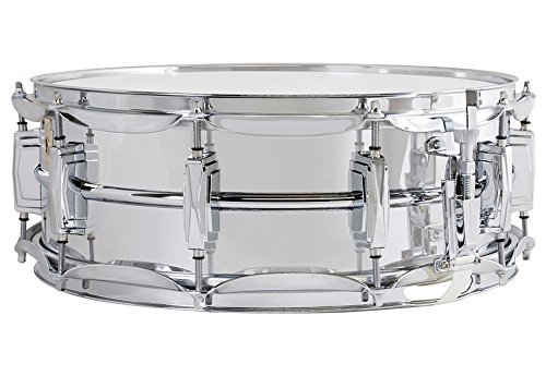 Ludwig LM400 Smooth Chrome Plated Aluminum 5 x 14 Inches Snare Drum with Imperial Lugs and Supra-Phonic Strainer by Ludwig