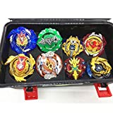 JIENI Beyblade Burst Starter - Beyblade Burst Gyro Set (8 Battling Top + 3 Launcher) Puzzle Creative Educational Gift Toy - Launcher Battle Game Tops Combination Set