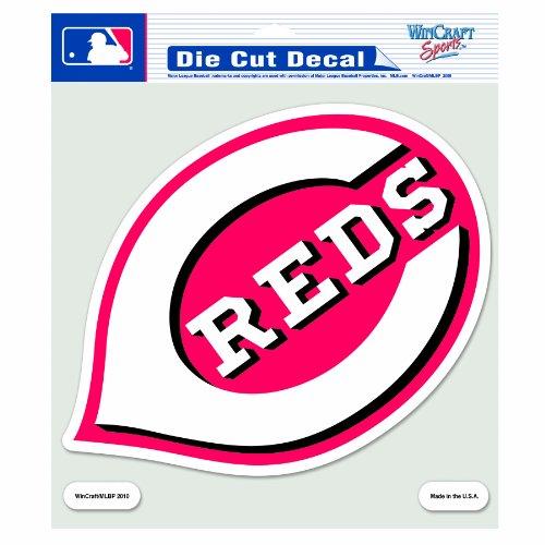 MLB Cincinnati Reds 8-by-8 Inch Diecut Colored Decal