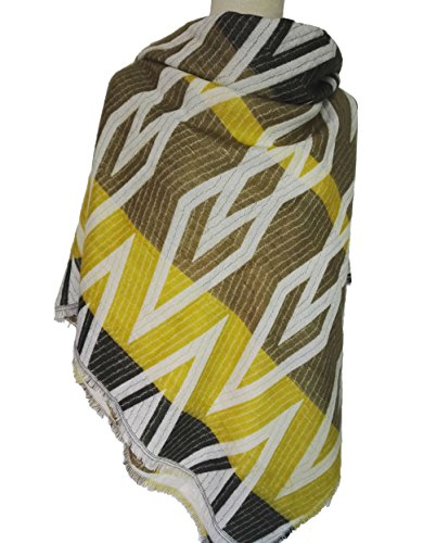 black-friday-tomyork-thicker-warm-diamond-pattern-artificial-cashmere-scarfyellow