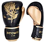 Dtown Womens Boxing Gloves Youth Kickboxing Training Gloves for MMA Fighting Muay Thai Black 10 oz