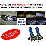 LA PUISSANCE DU XENON PAR SIMPLE CHANGEMENT D'AMPOULE ! KIT XENON H7 100W !RAID PREPARATION 4X4