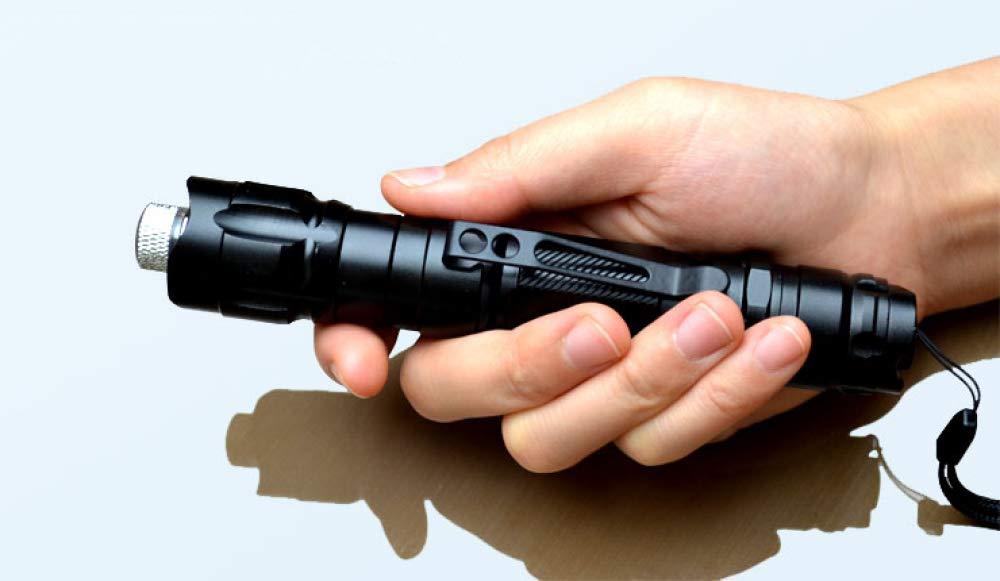 Gr/üne Zeiger Stift Professionelle 8000M Blendung Stylus Fernbedienung Stift Zeiger Projektor Multifunktions-Taschenlampe Einstellbar Taktische Camping Taschenlampe Outdoor-Reise-Taschenlampe,Black