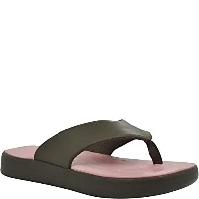 2504bdf155f29f Soft Science Skiff Unisex Flip Flops Charcoal   Light Pink
