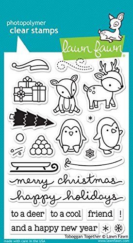 Lawn Fawn Clear Stamps - LF976 Tobaggan Together by Lawn Fawn