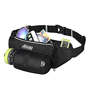 Fanny Pack AIHOLES Waist Pack with Water Bottle Holder Waterproof Running Belt Fits iPhone 7/6S Plus Galaxy S6 S7 Note 6/7 Reflective Water Bottle Pack for Running Hiking Travel Activities