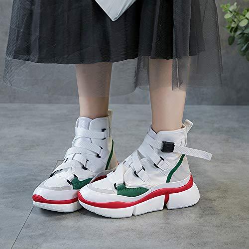 LBTSQ Damenschuhe Hip - - - Hop Hochhackige Schuhe 5 cm Hoch 100 Sätze Studenten Leinwand Sportschuhe 7f27cc
