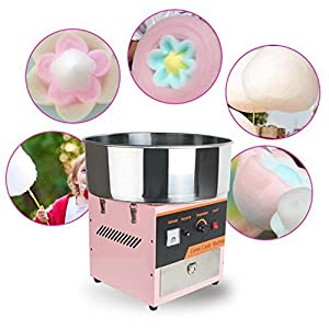 Electric Commercial Cotton Candy Machine/Tabletop Candy Floss Maker Pink Carnival Party 110V Ship from US