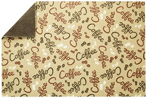S&T 591601 Coffee & Java Maker Mat, 12'' x 18'', Bean Print by STS
