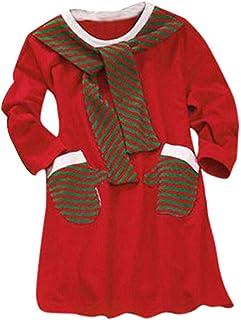Girls Dress Home Madre Hija Carnaval de Navidad Vestido a Juego Mujeres Chica de Manga Larga Familia Navidad Ropa de Dormir Niña Princesa Tutu Vestido Romper Trajes Ropa y Fiesta de Mujer Vestidos de