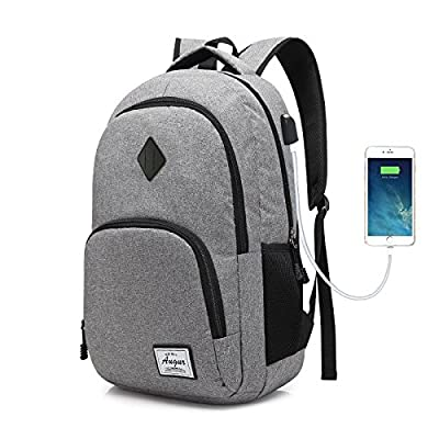 Augur Unisex Classic Laptop Backpack Lightweight Casual School Bookbag for  Travel… 4331be53be3d4