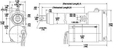 Capacity Linear Actuator 110-Lb 8in Stroke