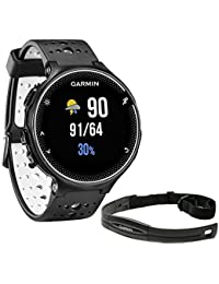 Forerunner 230 GPS Running Watch Black and White (010-03717-40) with Heart Rate Monitor