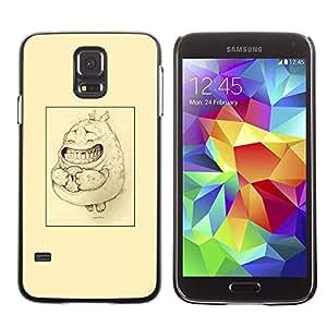 TopCaseStore / la caja del caucho duro de la cubierta de protección de la piel - Poster Cute Drawing Pencil - Samsung Galaxy S5 SM-G900