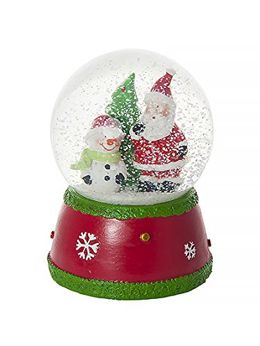 Mousehouse Gifts Musical Jingle Bells Father Christmas and Snowman Snow Globe Water Ball Decoration and Gift