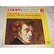 Chopin Polonaises, Nocturnes, Etudes & Mazurkas (Funk & Wagnalls Family Library of Great Music Album 3) Record Vinyl Album LP