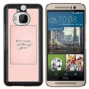 LECELL--Funda protectora / Cubierta / Piel For HTC One M9Plus M9+ M9 Plus -- Apenas la manera usted es Cita Peach --