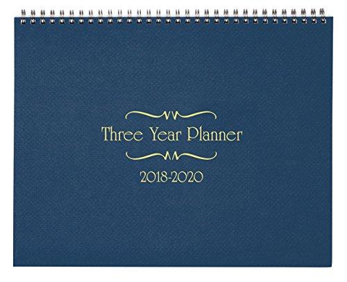 3 Year Calendar Diary 2018-2020 Blue by Miles Kimball