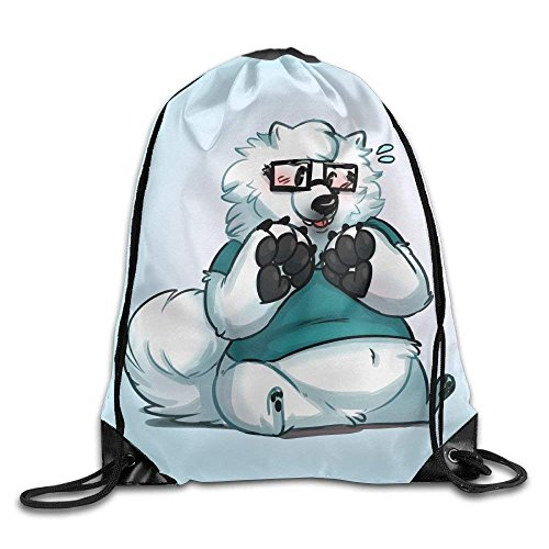 Bags Bag Rucksack Sport Backpack Shoulder Samoyed Print Drawstring Bag Cute Gym guolinadeou wTSq4Ax