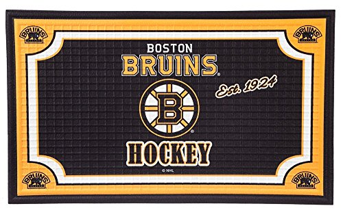 (Team Sports America Boston Bruins Embossed Floor Mat, 18 x 30 inches)