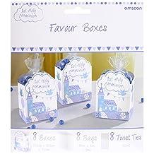 Amscan 9901900 7.5 x 4.5cm Communion Church Blue Favour Boxes
