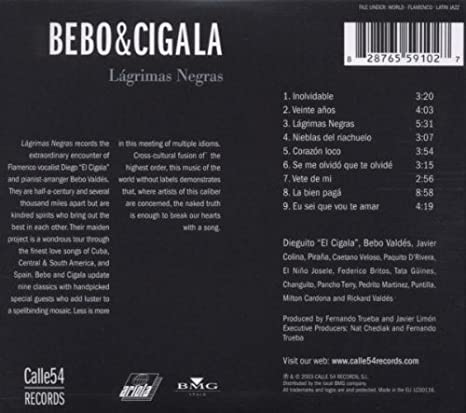 Bebo Cigala Lagrimas Negras Music