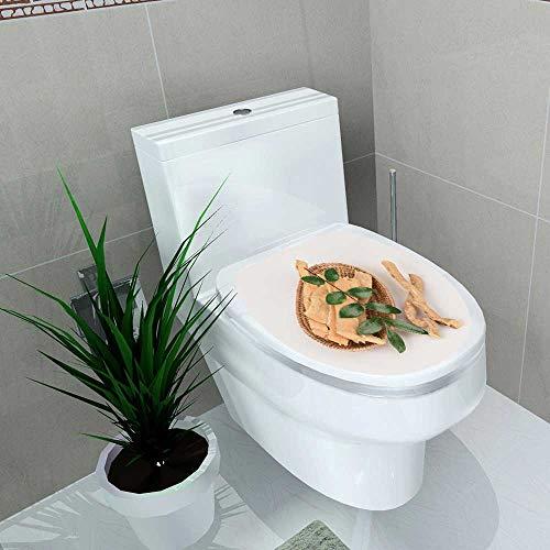 - Waterproof self-Adhesive tongkat Ali eurycoma longifolia Jack Toilet Seat Vinyl Art Stickers W15 x L17