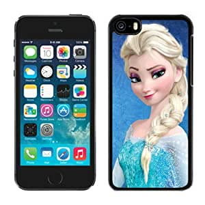 Fashionable iPhone 5C Case ,Unique And Lovely Designed Case With Frozen Elsa (2) Black iPhone 5C Cover Phone Case