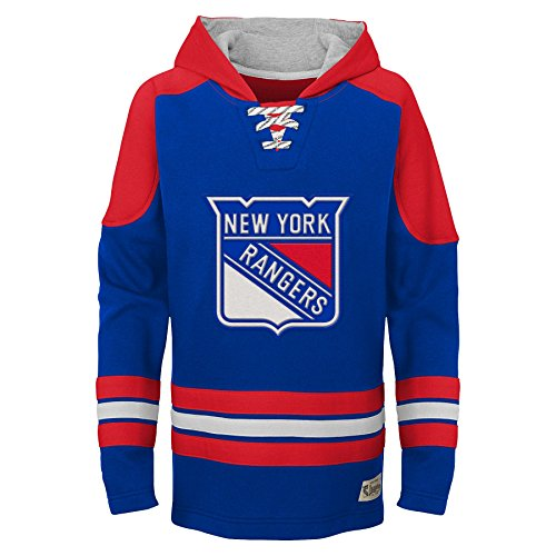 NHL New York Rangers Youth Boys Legendary Hoodie, Large(14-16), - Hoodie Sweatshirt Rangers