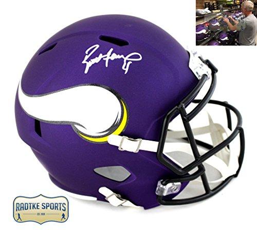 Brett Favre Autographed/Signed Minnesota Vikings NFL Full Size Speed Helmet