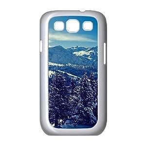 Winter Mountain Landscape Samsung Galaxy S3 Cases, Samsung Galaxy S3 Cases for Men Funny Okaycosama - White