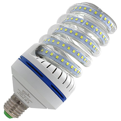 OUYIDE 200 Watt Equivalent Spiral LED Bulbs 24W Daylight 5000K LED Corn Light Bulbs E26 E27 Base(UL listed)