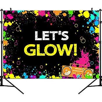 Amazon.com: Telón de fondo para fiesta de neón GYA Glow con ...